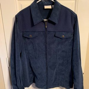 Alfred Dunner Zipped Corduroy Jacket Sz 20